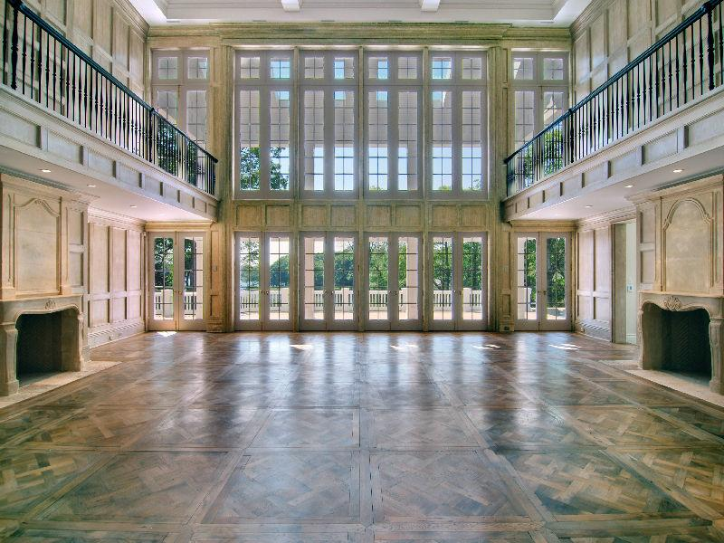 See this house a 35 million hamptons house where wood Floor to ceiling windows for sale