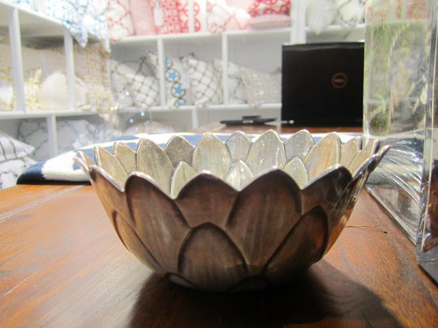 sterling silver vintage bowls for cards and paper clips at the COCOCOZY booth