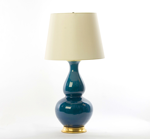 Blue double gourd lamp from Belvedere Inc.