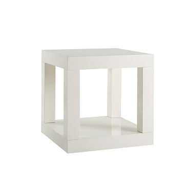 White Parsons Cube Side Table from West Elm