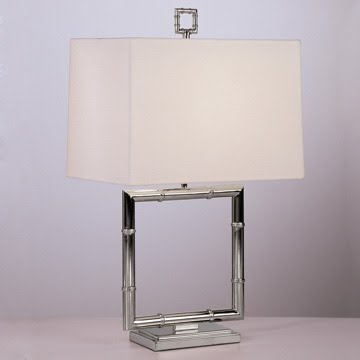 Square Nickel Table Lamp by Jonathan Adler