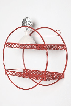 Loop de Loop Lace Shelf in red from Urban Outfitters