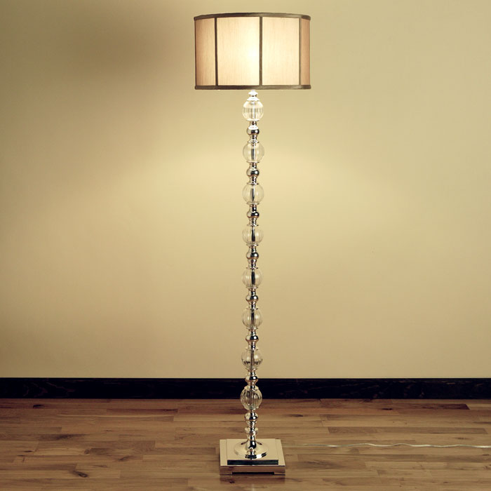 Polished metal and glass floor lamp from ZGallerie