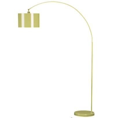 Green Bauhaus Arc Floor Lamp from cb2
