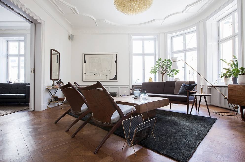 Mid century modern home in stockholm coco lapine - Mid century modern interior ...