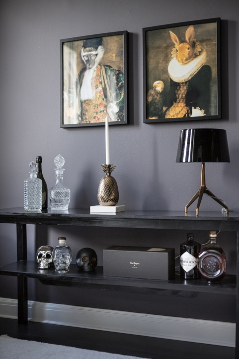 Stylish All Black Living Room Coco Lapine Designcoco