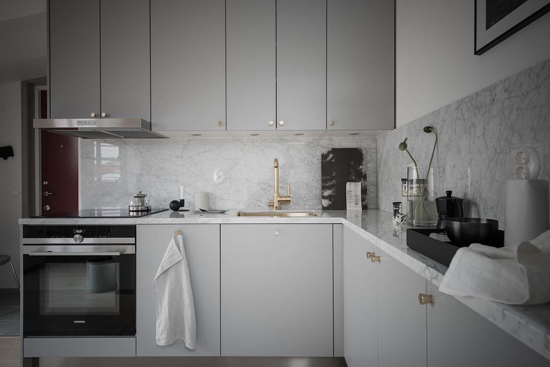 Keuken marmeren blad