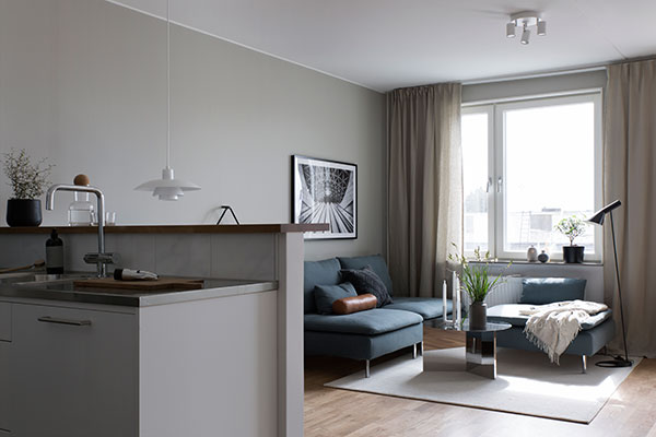 Compact home in grey - via Coco Lapine Design blog