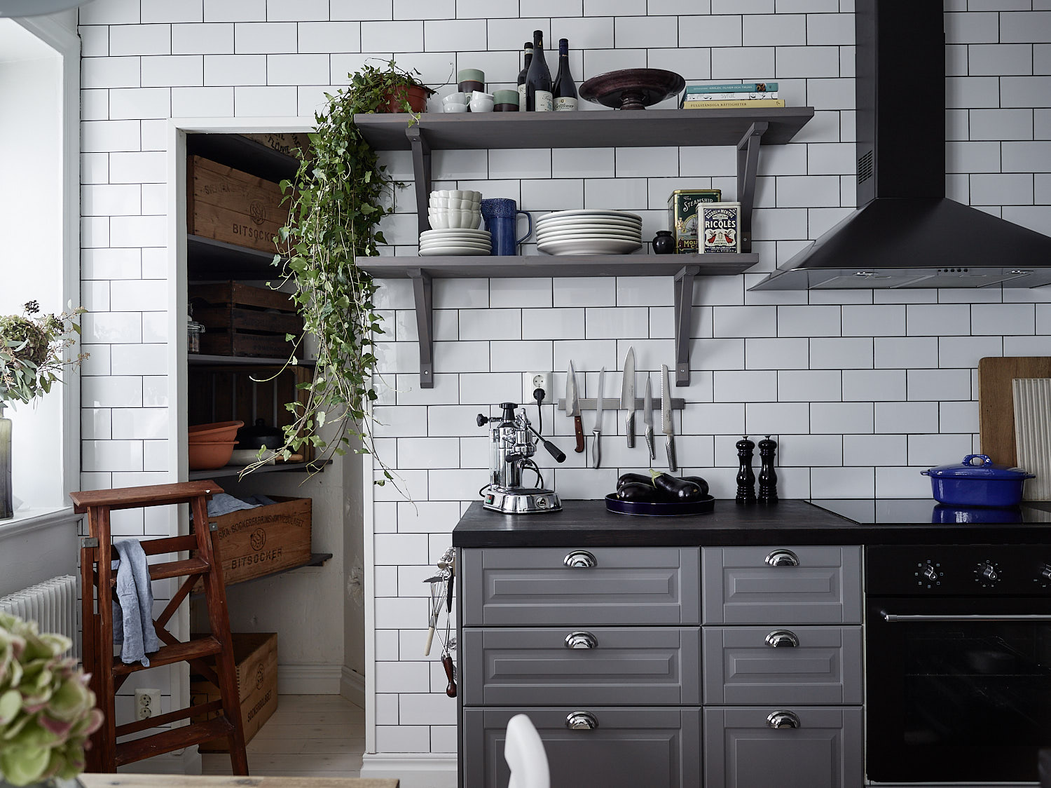 Imaginecozy Staging A Kitchen: Grey Kitchen With A Tile Wall