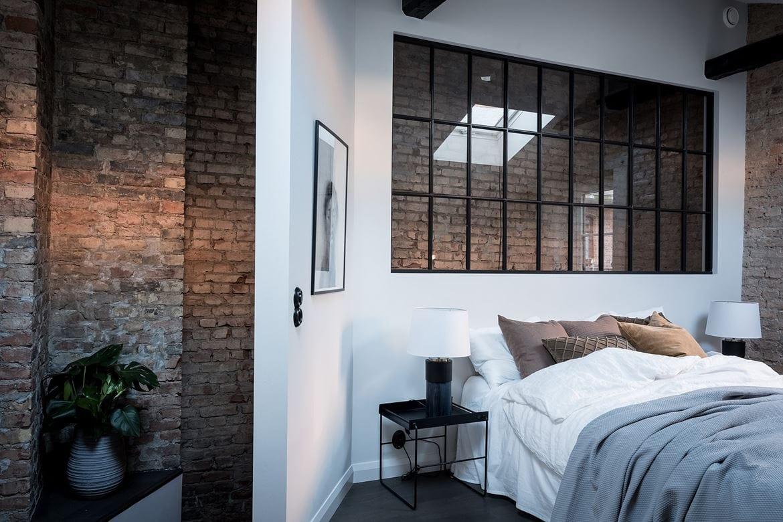 Bedroom With Exposed Brick Coco Lapine Designcoco Lapine Design