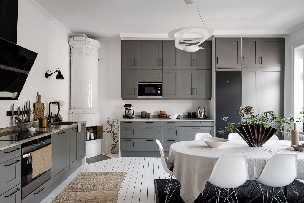 Fresh home with grey walls