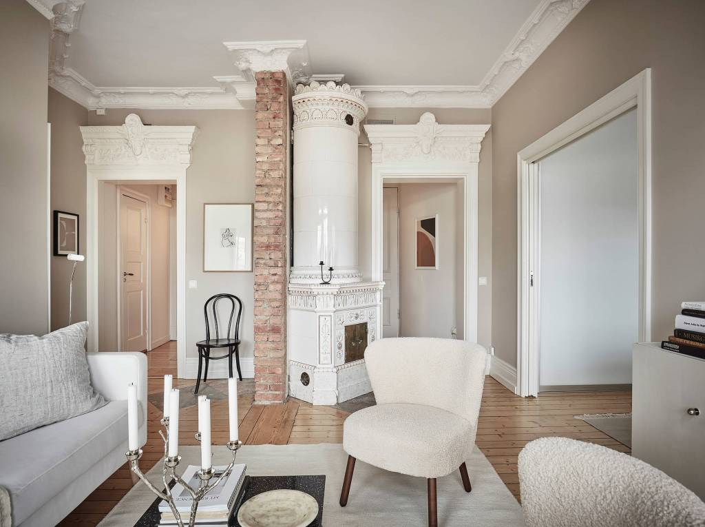Turn of the century home in beige tints