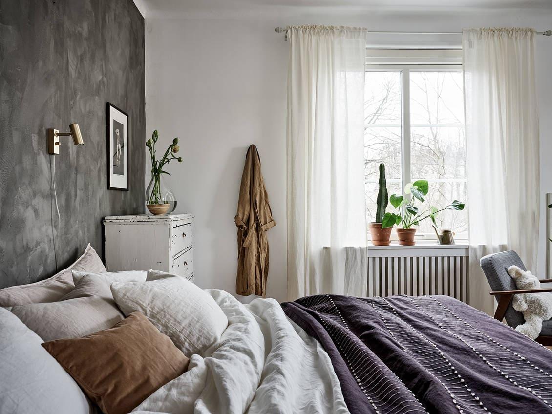 slaapkamer zwarte muur