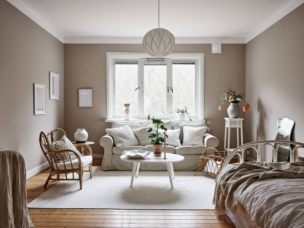 Small beige studio home