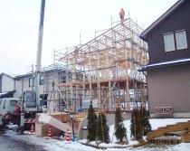 木造在来軸組工法 (ホゾ・筋交)