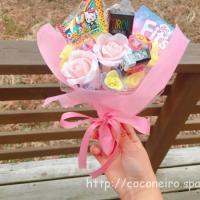 卒業する先輩にお菓子ブーケをプレゼント!感謝の気持ちを込めて