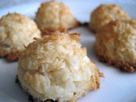 18. Macaroon Cookies: condensed milk + coconut. Combine the two until the mixture is sticky, then roll into balls and bake until browned on top.