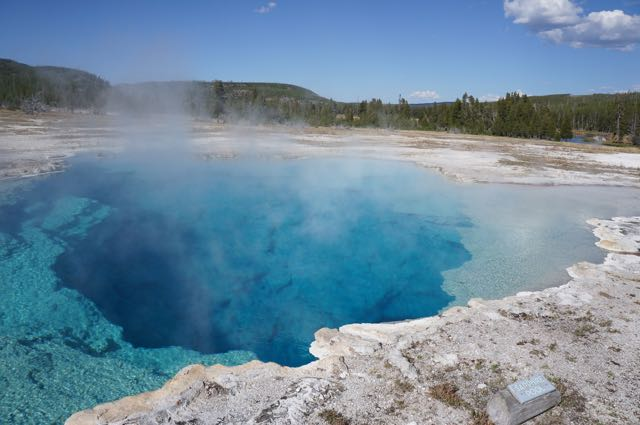 Sapphire Pool, Yellowstone National Park, Wyoming, USA. Photo: Eeva Routio.