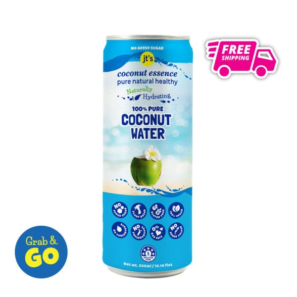 Grab and Go Pure Coconut Water 300mL