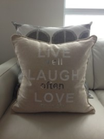 ~ Hubby gifted me this pillow that now sits on my couch ~