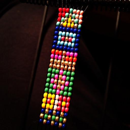 Emidesh bead loom bracelet in the making.