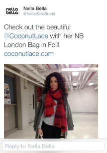 ~ Highlight of the week... Canadian brand Nella Bella tweet ~