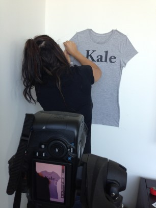 ~ Shay owner of Eyes On Tees on set for the shoot of her new collection ~