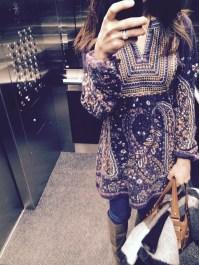 ~ An elevator selfie in a wool tunic ~