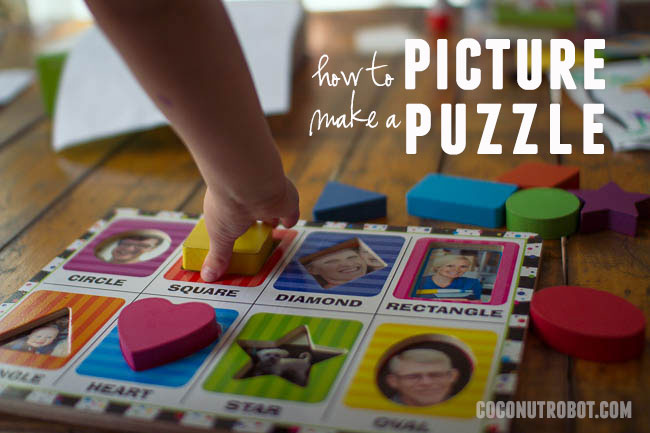 how to make a picture puzzle