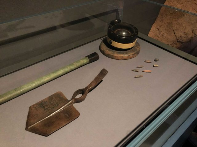 Items found at the Pasir Panjang battlefield, including spent ammunition.