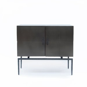 Sideboard hand-riveted metal