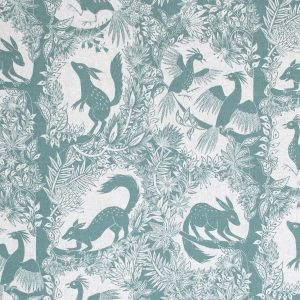 Curtain fabric Upholstery fabric Green curtain fabric Cocoon Home árbol del Paraíso
