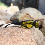 Medium Small fitover sunglasses with lemon lenses