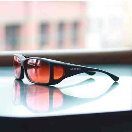 Wide Line Cocoons fitover sunglasses with orange lens system