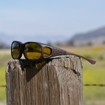 Sand Cocoons fitover sunglasses with yellow lenses