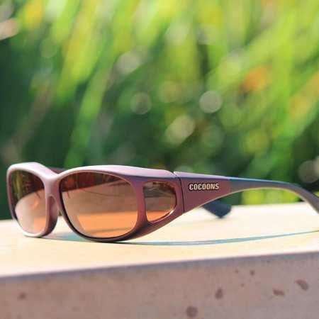 Mini Slim with copper lenses in fitover sunglasses