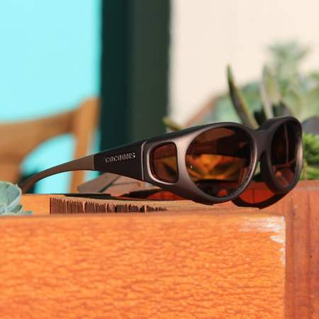 Sand fitover sunglasses with copper