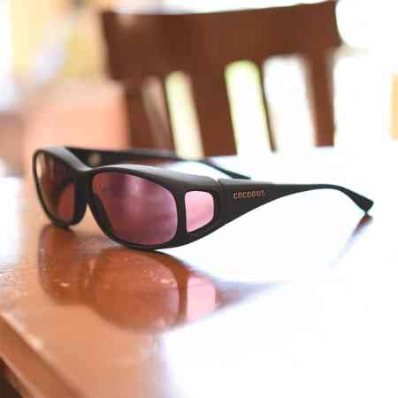 Small fitover sunglasses with low vision lenses