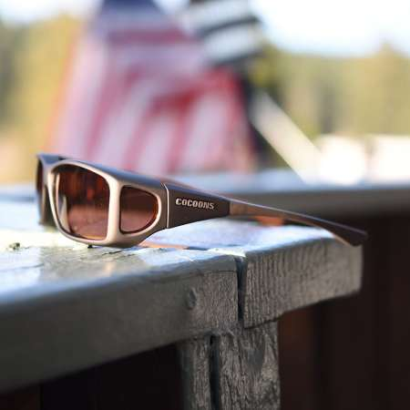 Sand fitover sunglasses with copper lenses