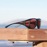Large Cocoons fitover sunglasses with copper lenses