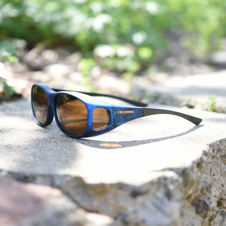 Medium sized fitover sunglasses with amber lenses
