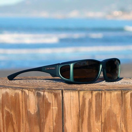 Wide Line fitover sunglasses in Ivy