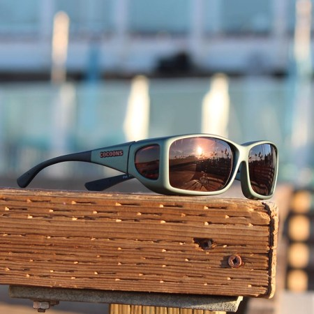 Wide Line Cocoons fitover sunglasses with Soft Touch Ivy