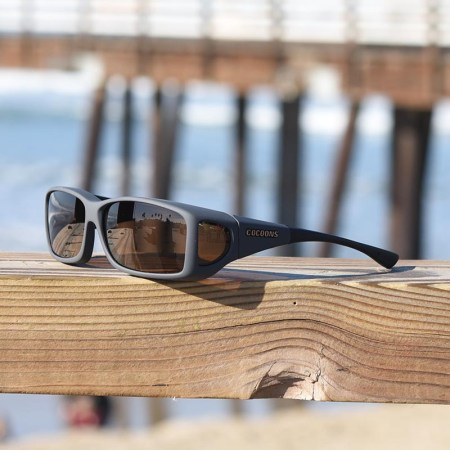 A slate finish with an amber lens system from cocoons fitover sunglasses