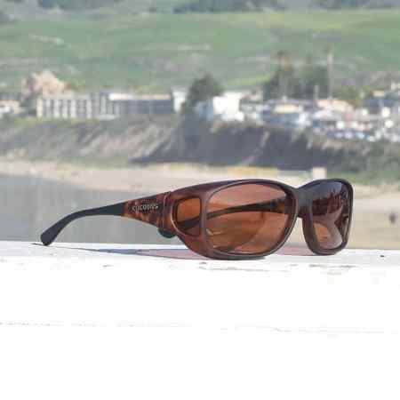 Soft touch frame tortoiseshell fitover sunglasses