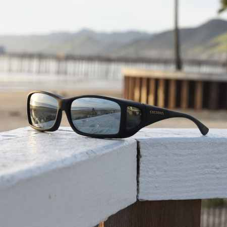 Mens fitover sunglasses with mirrored lenses