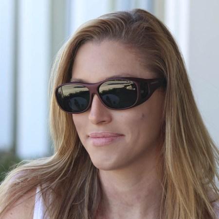 Womens fashionable fitover sunglasses