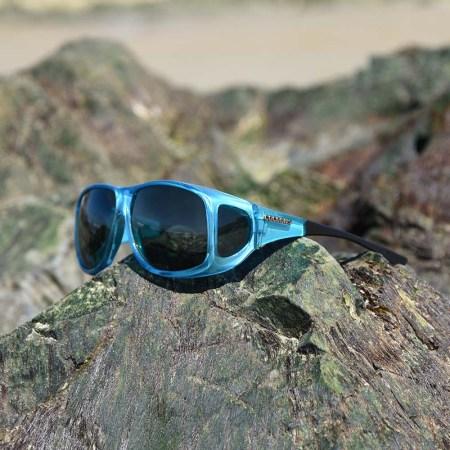Beautiful fitover sunglasses come in aqua