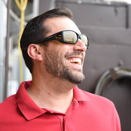 good picture of fitover sunglasses with yellow lenses