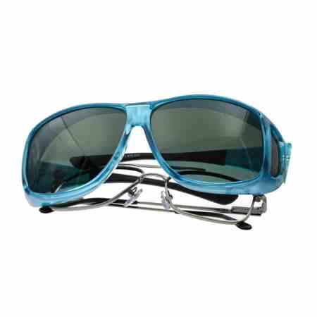 huge aqua cocoons fitover sunglasses